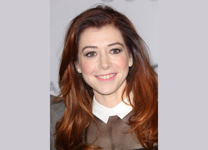 Alyson Hannigan - Long hairstyle and collar for a preppy look