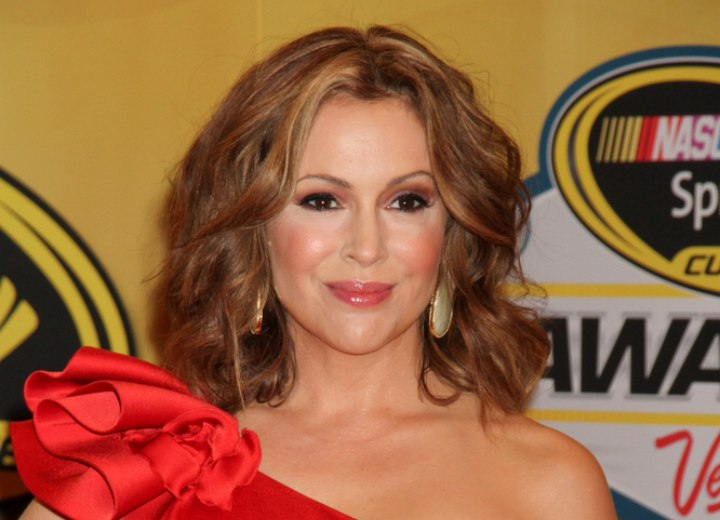 Alyssa Milano - Wavy shoulder length hairstyle