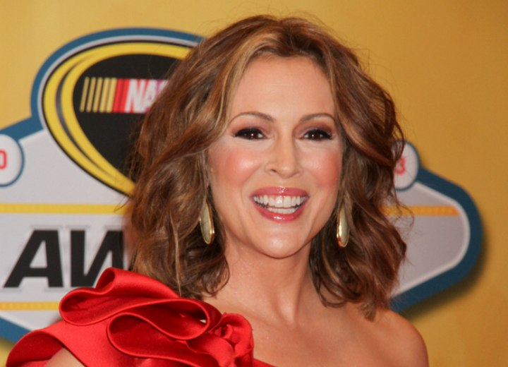 Alyssa Milano - Medium hairstyle for forty plus women