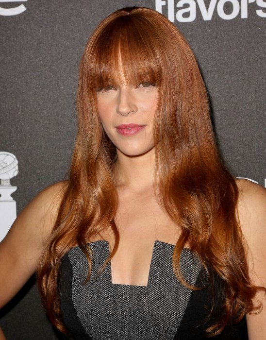 Amanda Righetti Girly Bustline Length Hairstyle With