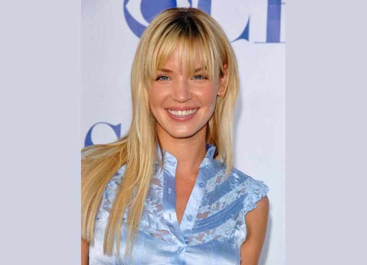 Ashley Scott with sleek long hair