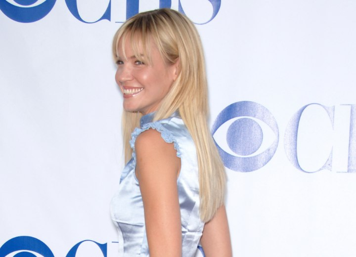 Back view of Ashley Scott's long hair