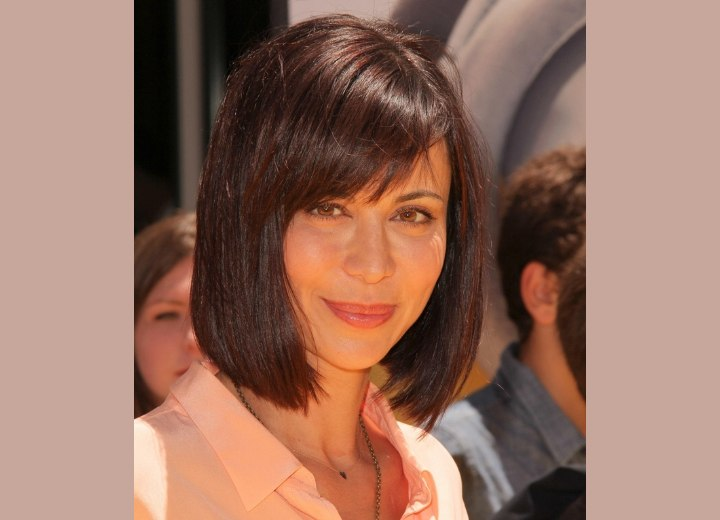 Above the blouse collar bob haircut - Catherine Bell
