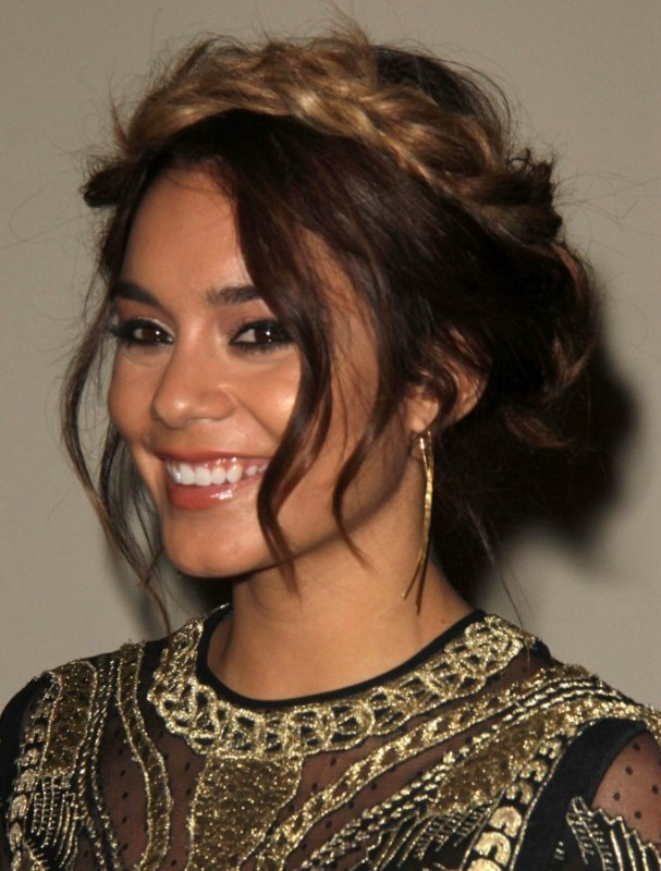 Vanessa Hudgens Braided Hair Extensions For An Ombre