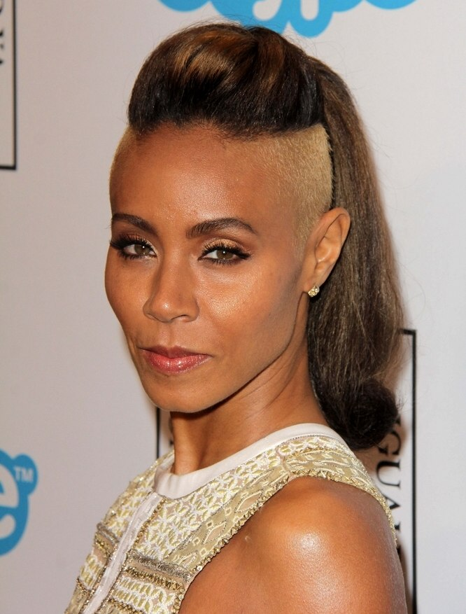Jada Pinkett Smith Hairstyle With A Buzzed And Bleached
