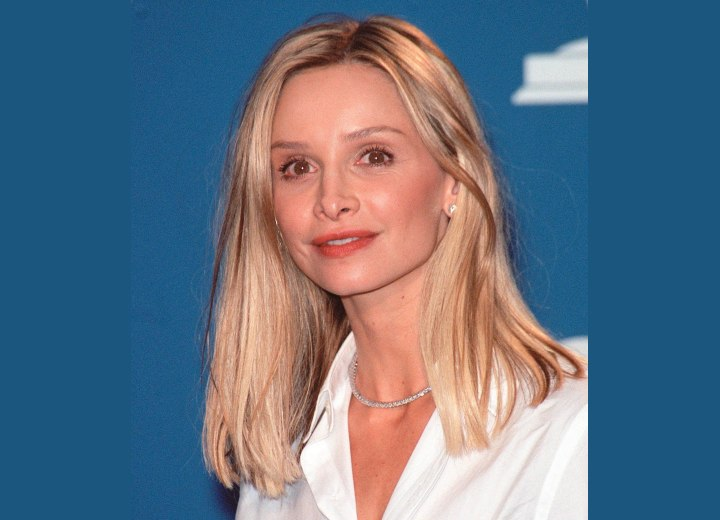 Calista Flockhart - Long hairstyle for thinner hair