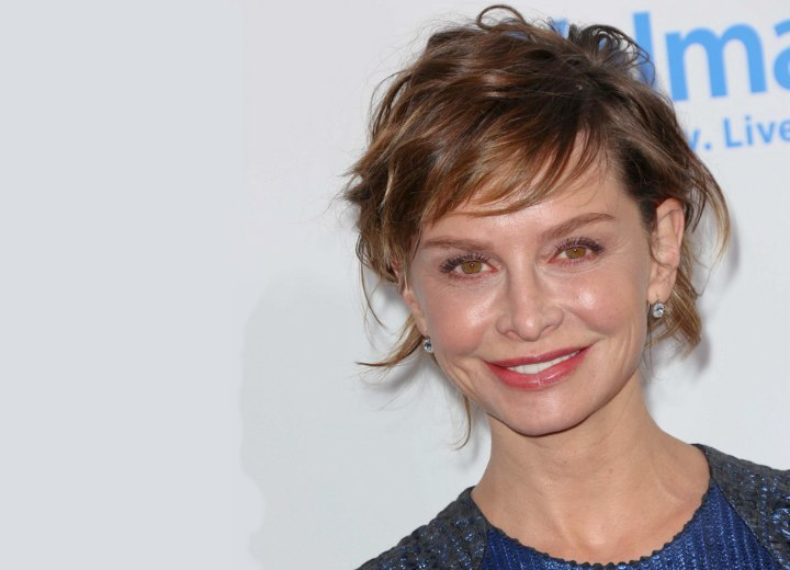 Calista Flockhart's aging hairstyle