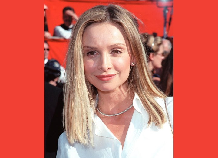 Long hairstyle with a classic shape - Calista Flockhart