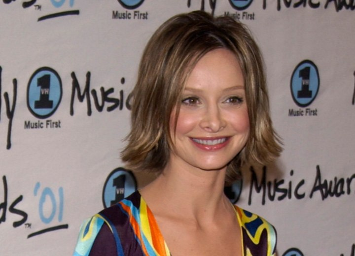 Chin length haircut with layers - Calista Flockhart