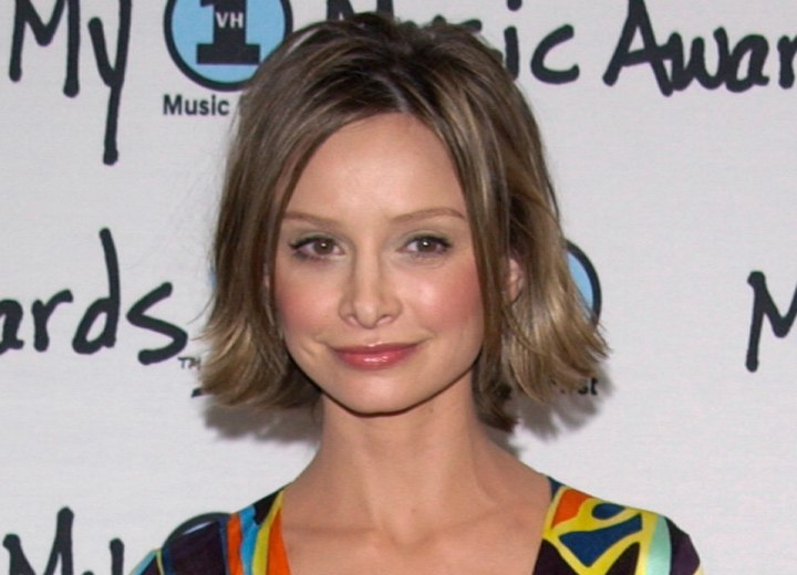 Calista Flockhart wearing a short retro dress