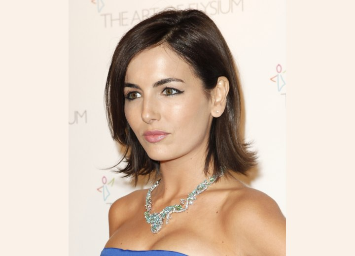 Camilla Belle - Medium length hairstyle with flipped ends