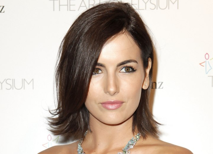 Fresh hairstyle for mid length hair - Camilla Belle