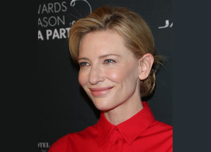 Cate Blanchett wearing her hair up