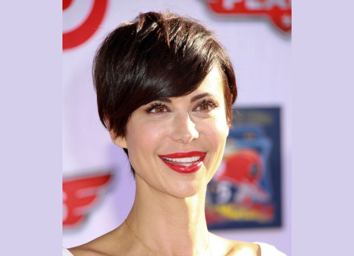 Catherine Bell's pixie haircut
