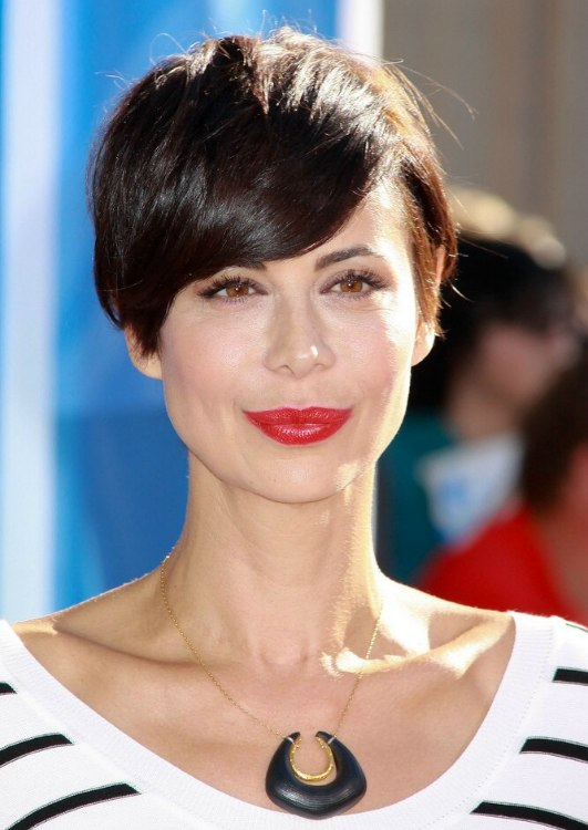 Catherine Bells Pixie New Short Haircut With A Tapered Neck And