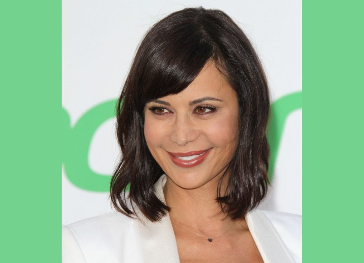 Catherine Bell's deep brown hair color