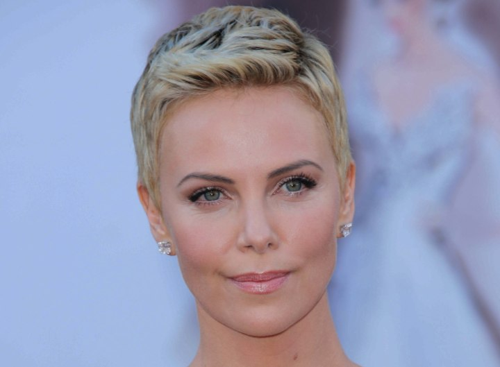 Charlize Theron's pixie