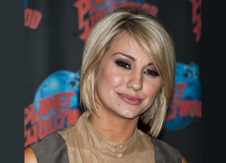 chelsea kane | past the jaw line bob haircut with layers