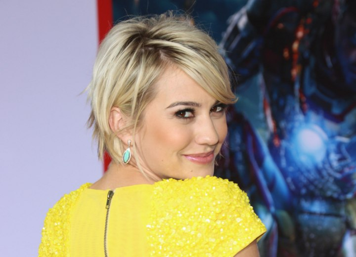 Side view of Chelsea Kane's hairstyle
