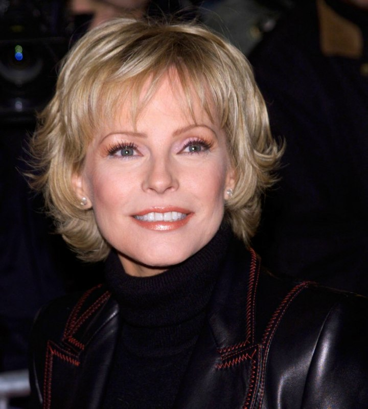 Cheryl Ladd Short Hairstyle Turtleneck And Leather