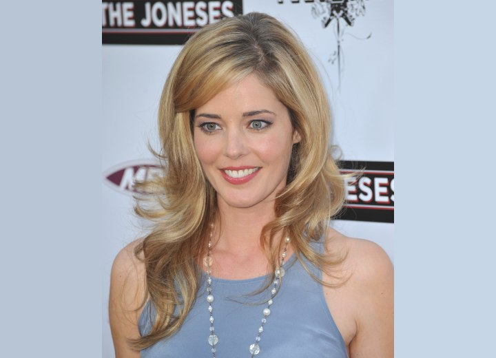 Christina Moore - Long hairstyle with large waves