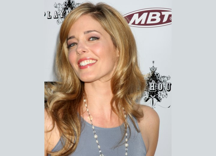 Voluminous long hairstyle - Christina Moore