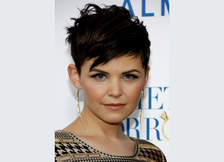 Clean short haircut for women - Ginnifer Goodwin