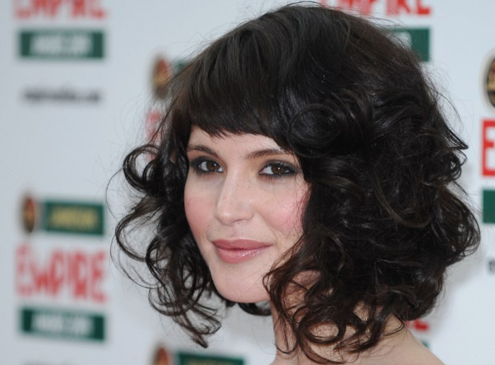 Close-up photo of Gemma Arterton's hair with curls