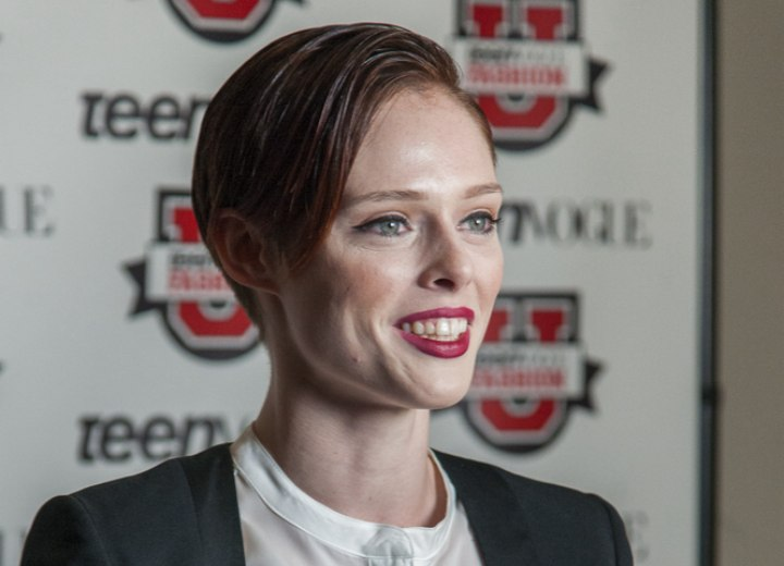 Coco Rocha's very short hairstyle