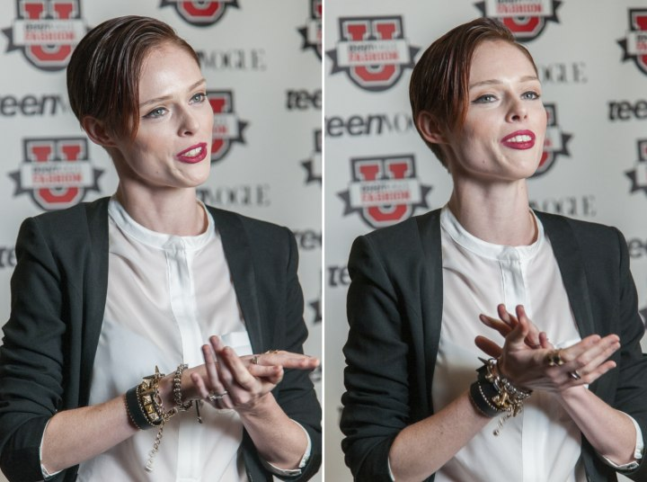 Coco Rocha - Sophisticated and slick over short hair