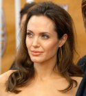 Comfortable hairstyle for a gala or prom - Angelina Jolie