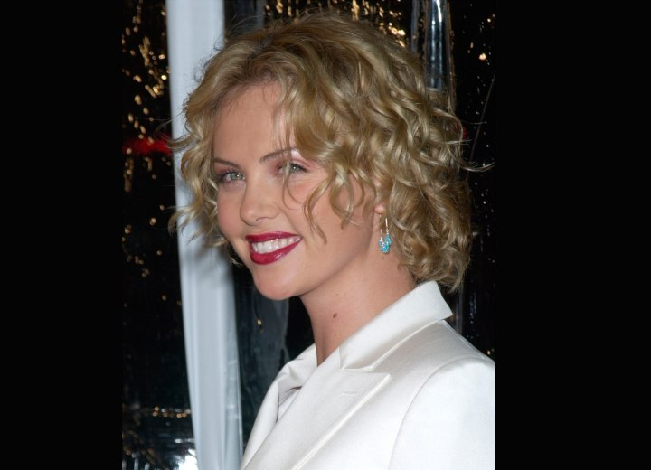 Curly bob hairstyle - Charlize Theron