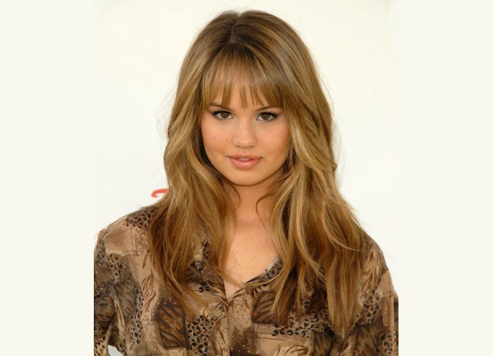 Debby Ryan - Long hairstyle with thin bangs