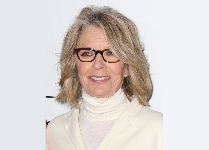 Diane Keaton - Natural looking sixty plus hairstyle