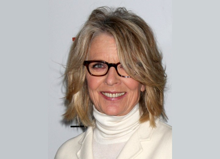 Diane Keaton - Above the shoulders hairstyle for older women