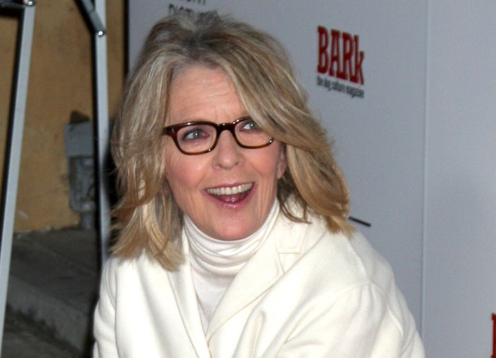 Diane Keaton aging gracefully with the right hairstyle and outfit
