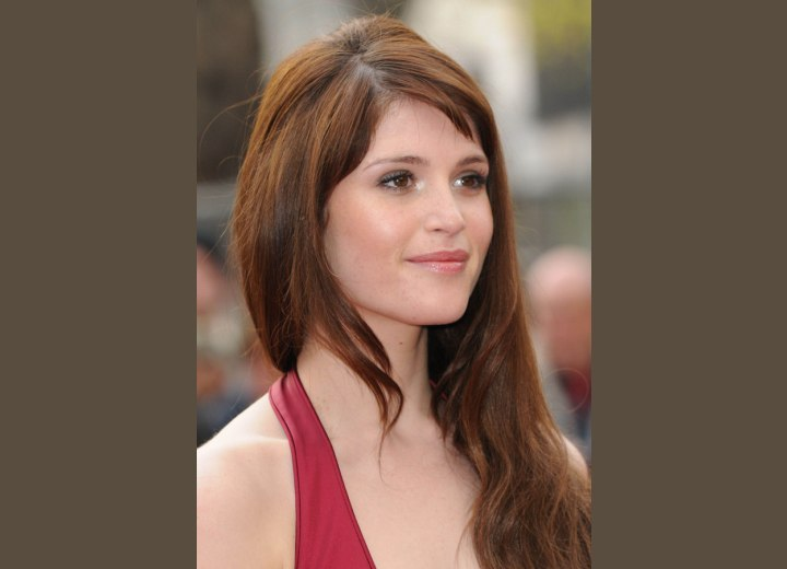 Gemma ARterton - Easy maintenance hairstyle for very long hair