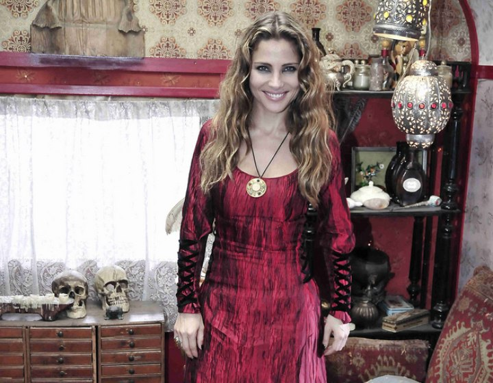 Elsa Pataky wearing a royally inspired dress