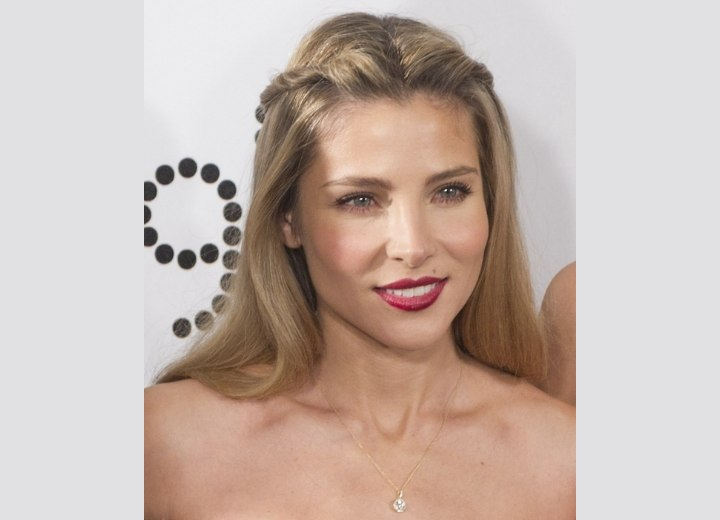 Long hairstyle that keeps the hair away from the face - Elsa Pataky