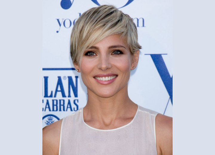 Elsa Pataky with her hair cut into a youthful pixie
