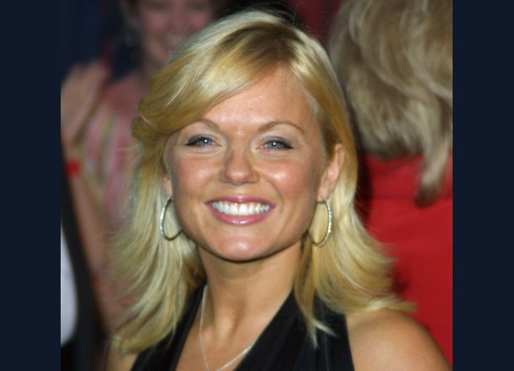 Geri Halliwell - Long hairstyle with feathered sides