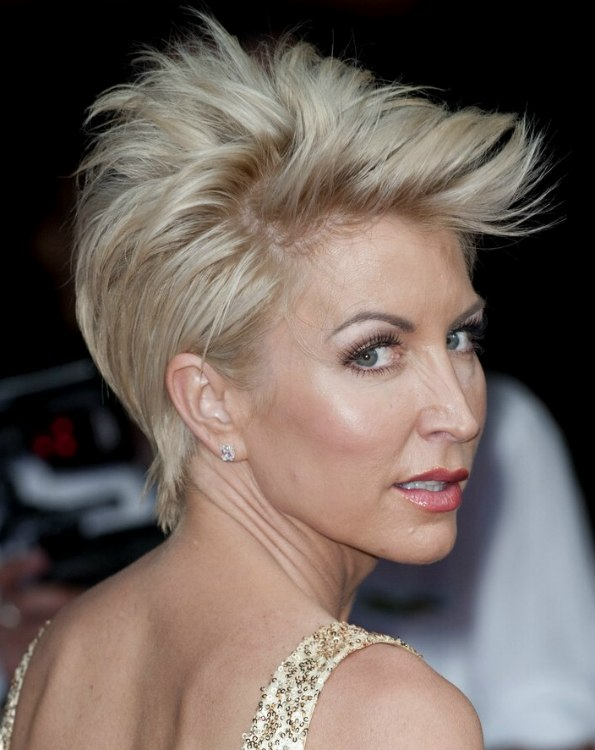 Heather Mills Formal Short Pixie Hairstyle With Loose