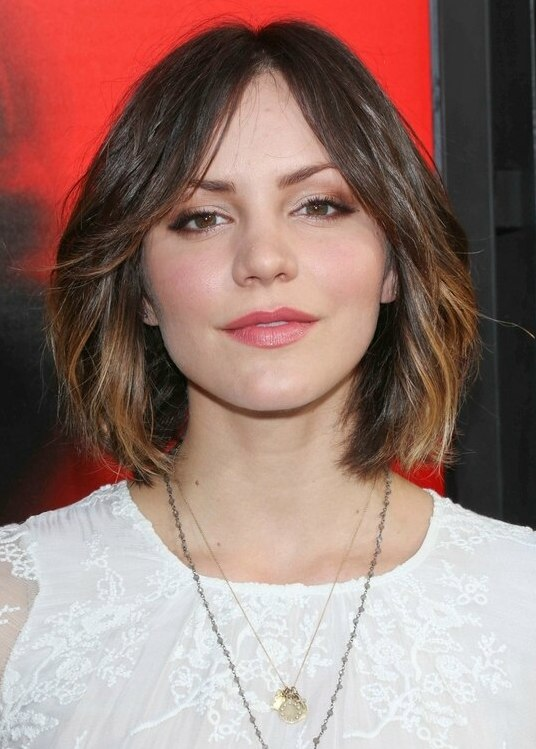 Katharine Mcphee Laid Back Medium Length Bob Hairstyle