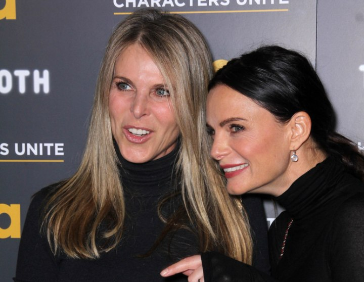 Gabrielle Anwar and Catherine Oxenberg