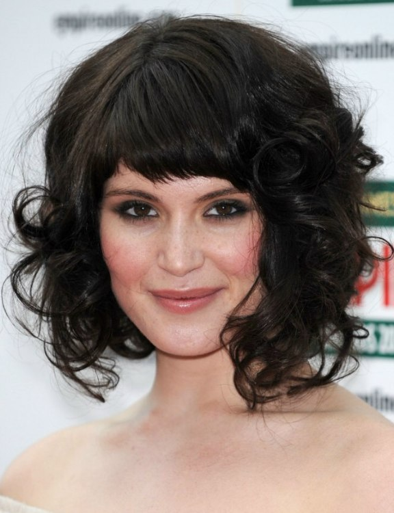 Gemma Arterton Medium Length Hairstyle With Large