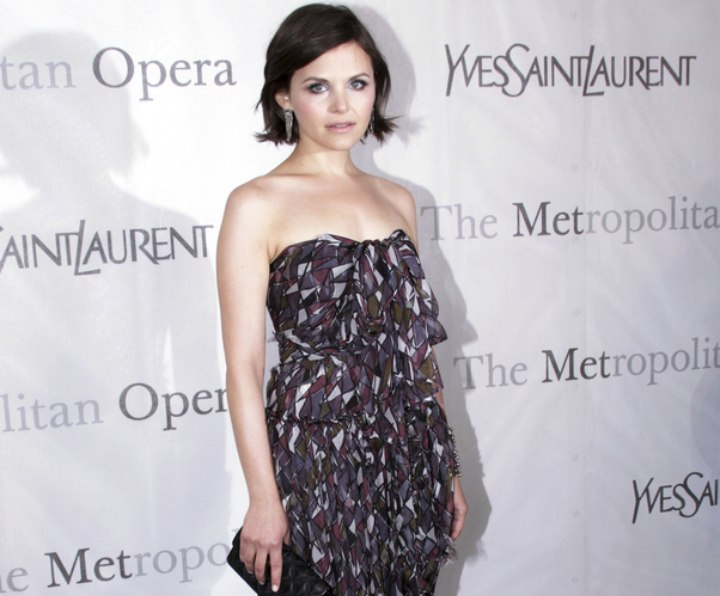 Ginnifer Goodwin - Formal look with short hair and a long dress