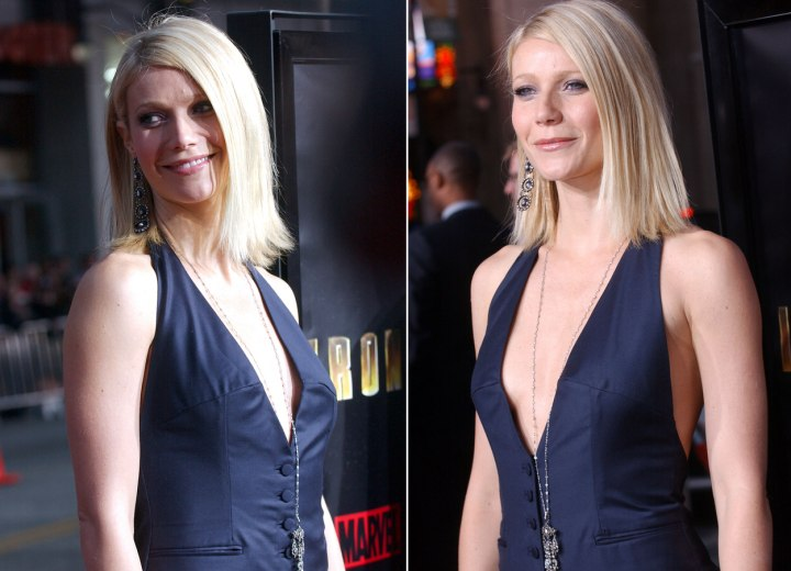 Gwyneth Paltrow - Simple and elegant medium long hairstyle