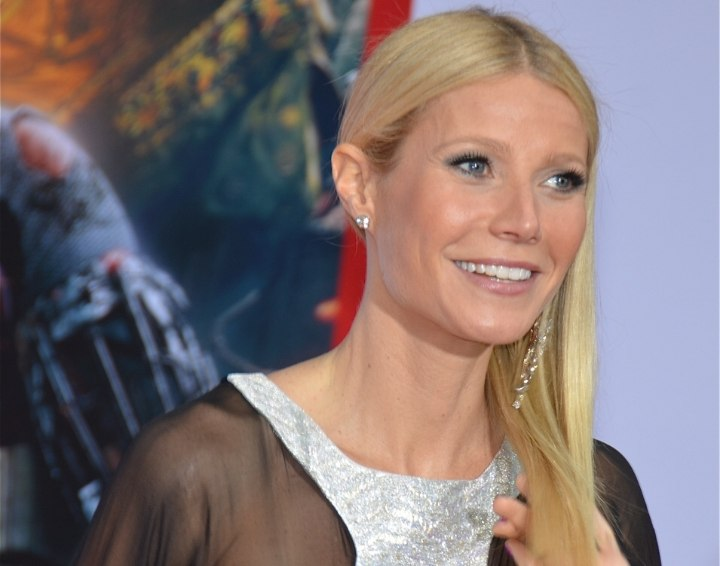 Gwyneth Paltrow wearing her hair tucked back