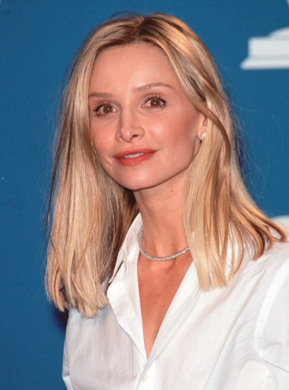 Calista Flockhart Long Hairstyle To Make Thinner Hair