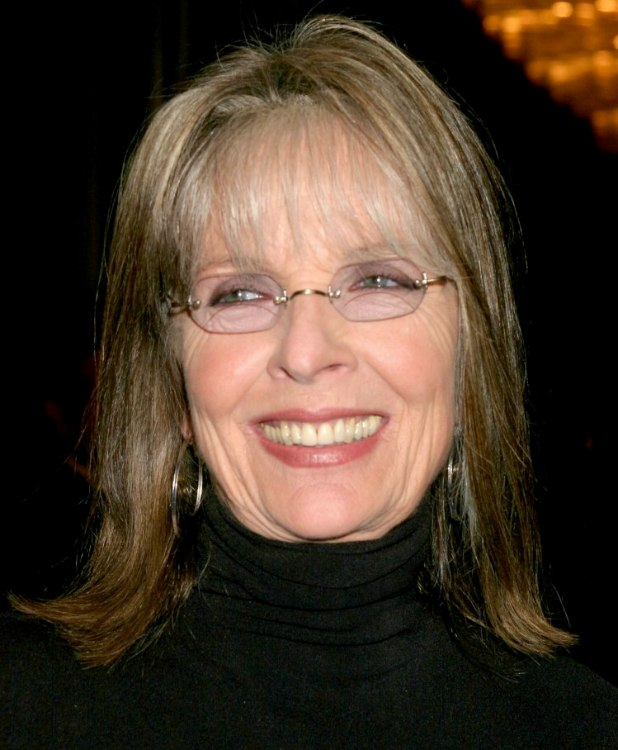 Admirable Diane Keaton Shoulder Length Hairstyle With Thin Bangs To Hide Short Hairstyles For Black Women Fulllsitofus